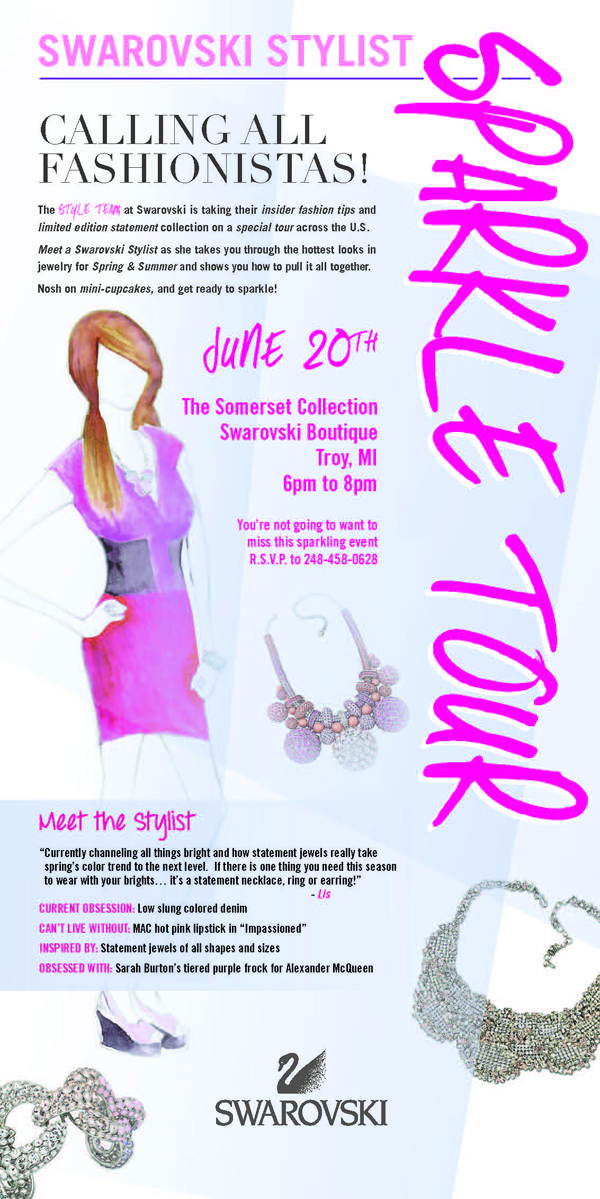 Swarovski Stylist Sparkle Tour Comes to Somerset Collection