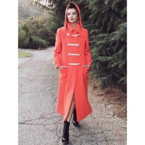 Alice Greczyn Wears Red Coat