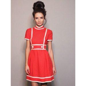 Alice Greczyn red dress