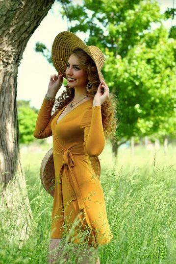 Brittany Ray Mustard Dress