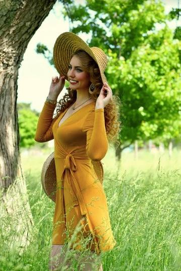 Brittany Ray Mustard Dress