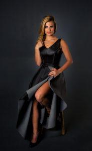Janna Coumoundouros V Neck Dress