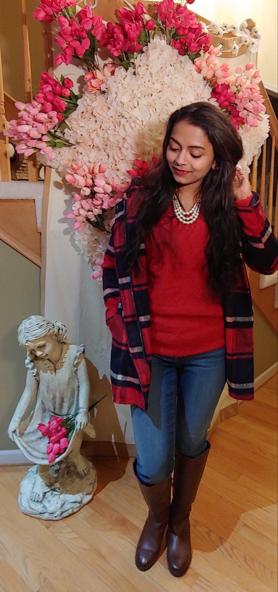 Bidisha Sinha red hood flannel