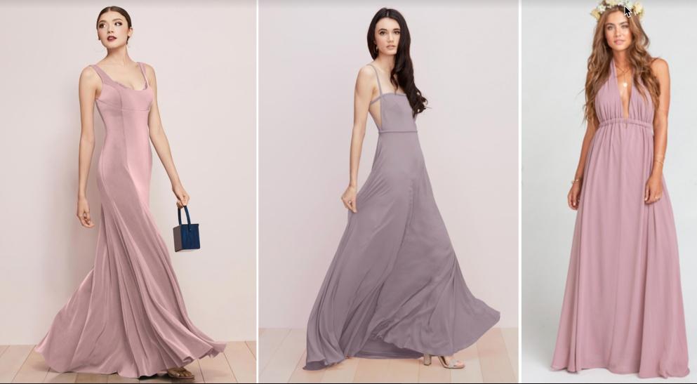 mauve dresses