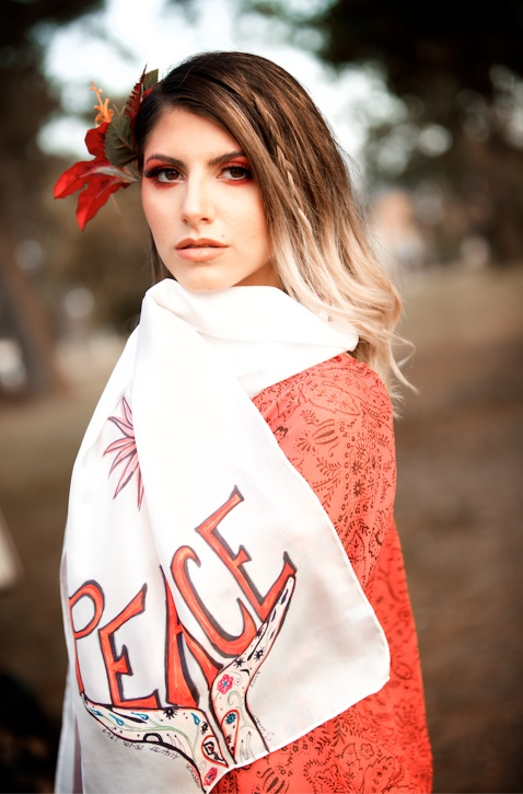peace scarf by C. Creations