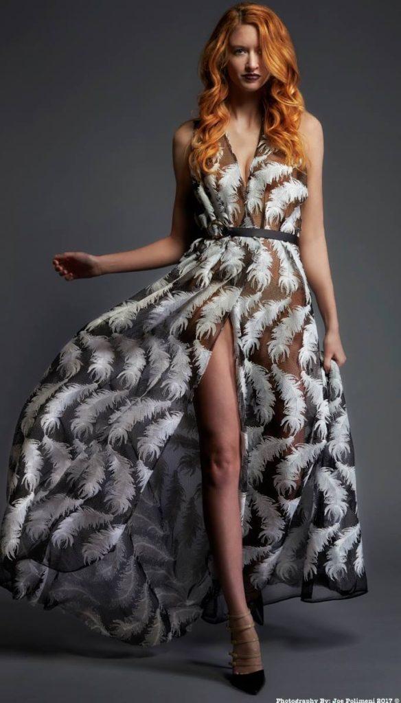 Ashley Harris Design print gown