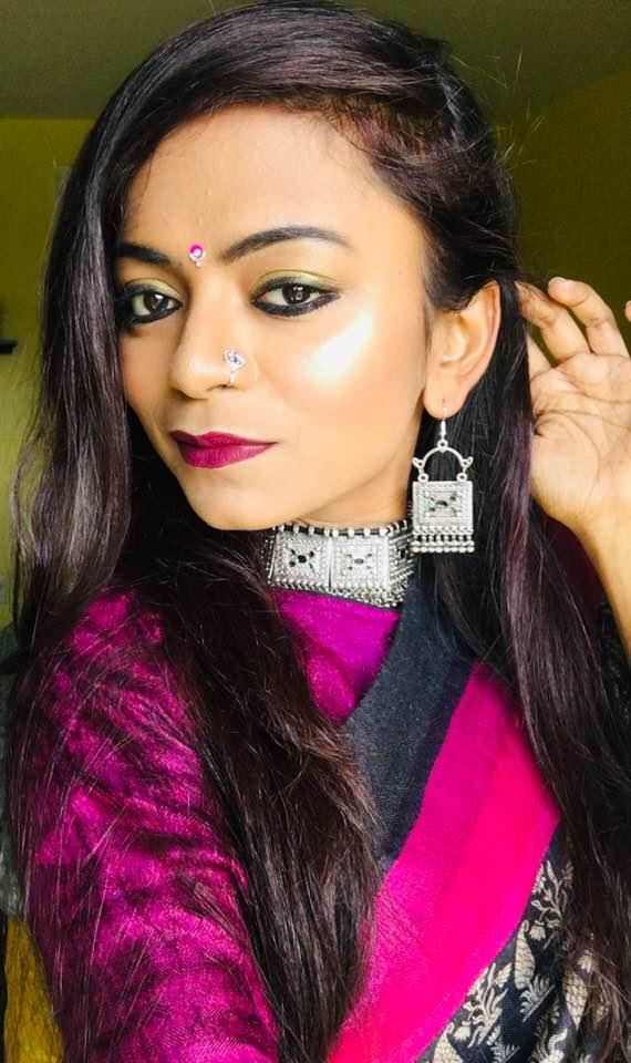 Bidisha Sinha Pink Saree