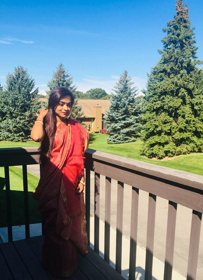 Bidisha Sinha Red Saree