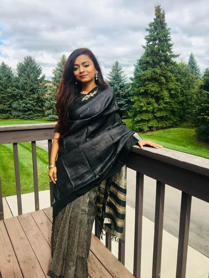 Bidisha Sinha Black Saree
