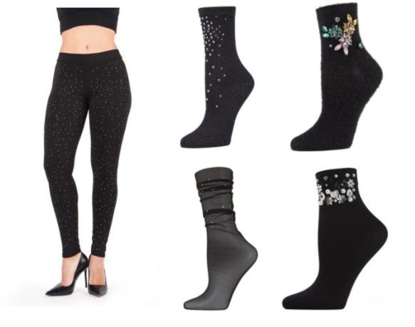 Lewks and MeMoi Glam Socks